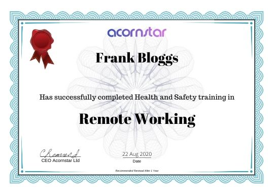REMOTE WORKING TRAINING COURSE